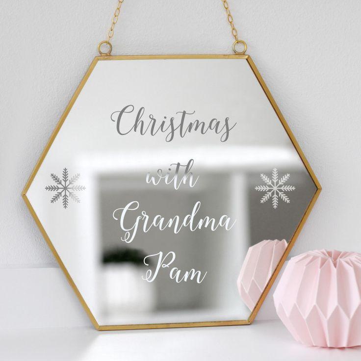 Personalised Christmas With Grandma Mirror | hardtofind.
