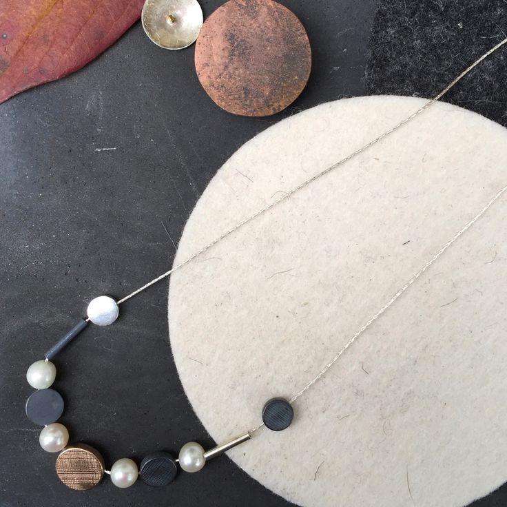 Dot Pearl Necklace #pearls #necklace #contemporaryjewellery #modern #dots #rosegold