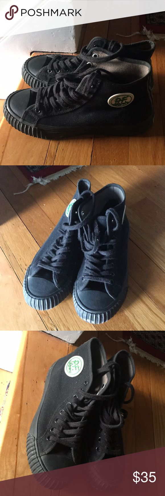 High Top PF Flyers Black High Top P.F. Flyers - Black. Women's 7.5 (Men's 6). Good neutral comfy sneaker. Worn only a few times. New Balance Shoes Sneakers