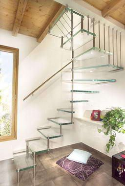 Love these Glass Staircases
