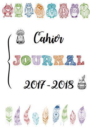 Cahier journal 2017 - 2018 COULEURS - MaîkresseZaza