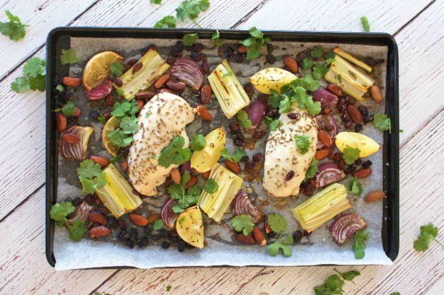 Roast Chicken With Leek, Lemon and Cumin Recipe