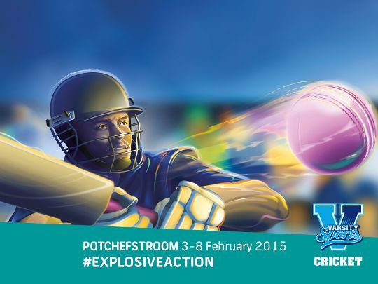 We back tomorrow's legends by supporting Varsity Cricket. ‪Potchefstroom, 3rd - 8th February. bit.ly/1yPWURn