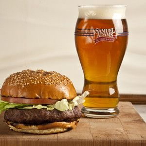 National Cheeseburger Day: Blue Cheese Burger with OctoberFest Caramelized Onions and Boston Lager Ketchup - The Samuel Adams Blog