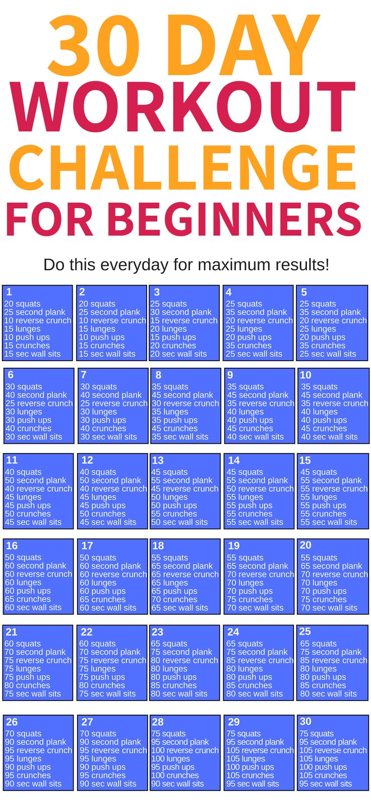 This 30 day workout challenge for beginners is THE BEST! I'm so glad I found thi…