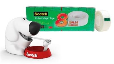 Dog sticky tape dispenser by Scotch. Great desk accessory.