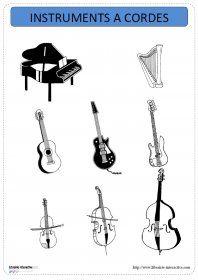Un imagier thématique proposant 31 cartes et affiches avec les instruments de musique, répartis en 3 familles (vents, cordes et percussions).                                                                                                                                                                                 Plus
