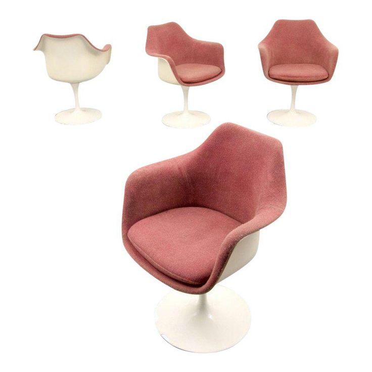 Eero Saarinen For Knoll Inc Tulip Arm Chairs Set Of 4