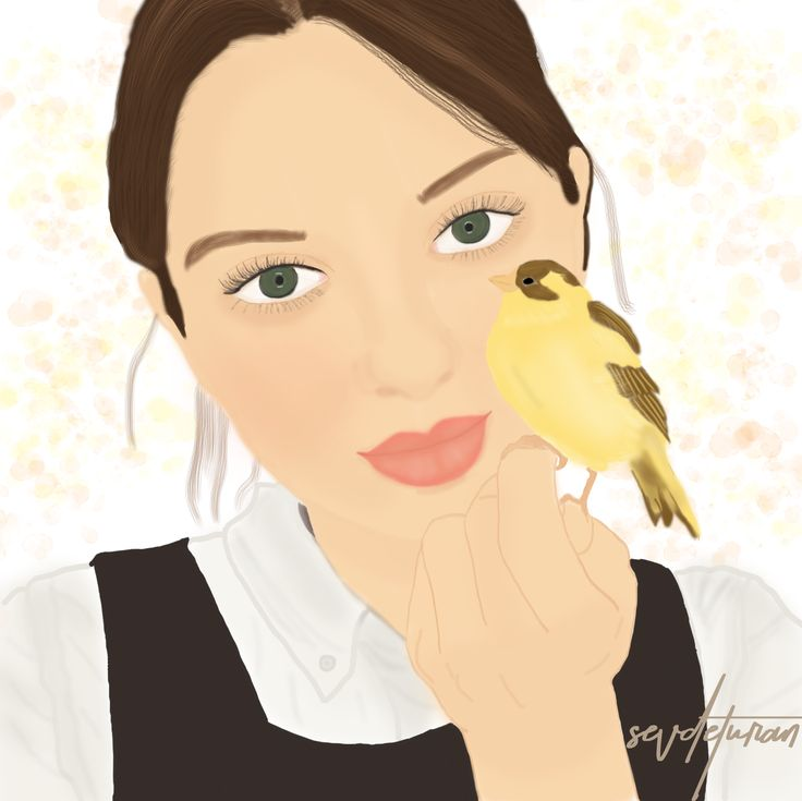 Polly Fern #pollyfern #girl #art #illustration #draw #drawing #canary