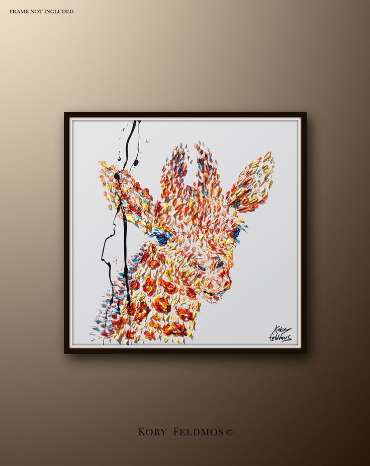"""Painting 24"""" Giraffe Painting, animal painting , Original Hand made oil painting on canvas, By Koby Feldmos by KobyFeldmos on Etsy https://www.etsy.com/listing/227899183/painting-24-giraffe-painting-animal"""