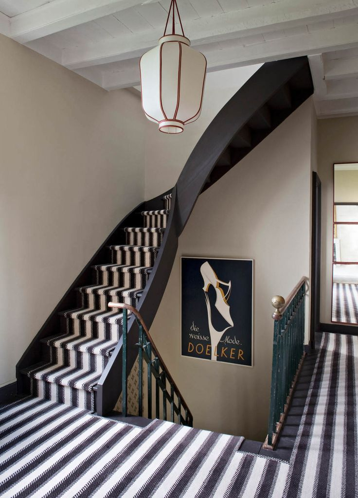 Best Black White And Gold Striped Carpet For A Staircase 640 x 480
