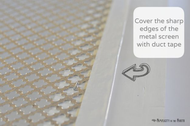 How to make a decorative air return cover