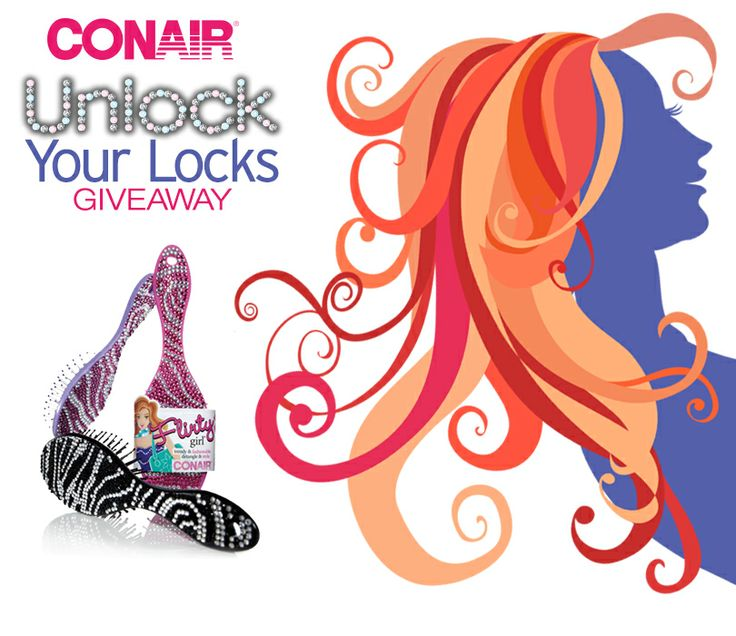 "Help Conair \&%2334;Unlock\&%2334; great hair by entering the Conair ""Unlock Your Locks""  Giveaway and share the page with your friends! Once we reach 150,000 fans, we will randomly select 150 winners! 149 winners will win a Conair Flirty Girl Cushion Bling Brush, and 1 lucky grand prize winner will receive the new Infiniti Pro by Conair Limited Edition Blow-Out Tool Set, the Conair True Glow Sonic Cleansing Brush, and a Conair Flirty Girl Cushion Bling Brush."