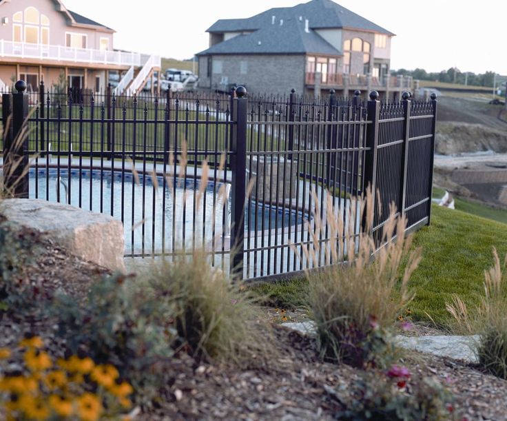 Our ornamental railing makes for a perfect pool fe…