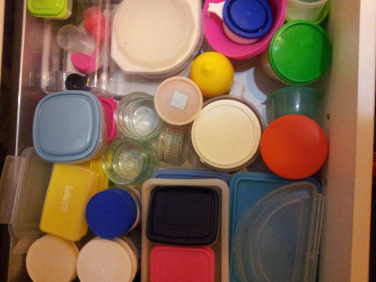 A better organised plastics drawers, everything is easily identifiable and can be accessed easily.