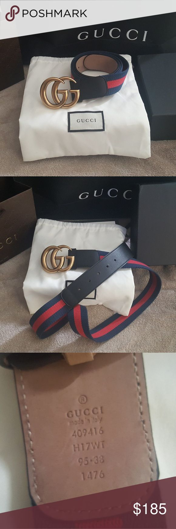 """Nylon web gucci belt"" Brand new with tag Signature blue and red  nylon web gucci belt with a double G buckle comes with box and dust bag...🔥 Gucci Accessories Belts"