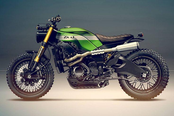 Kawasaki ZX-10R by Holographic Hammer - Moto Revue