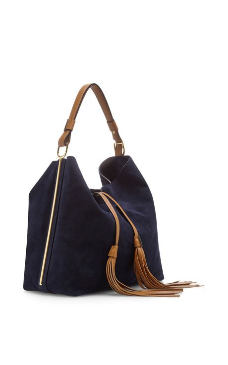 Blu China Sandy Suede Shoulder Bag by Marni - Moda Operandi