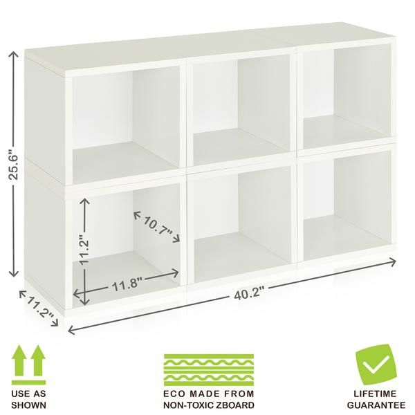 Modular Cubes Set Of 6 White Pre Order Ships 9 21 In 2020 Cube Storage Cube Storage Decor Cubby Storage