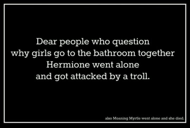 Don't forget Myrtle, Ginny and Katie.