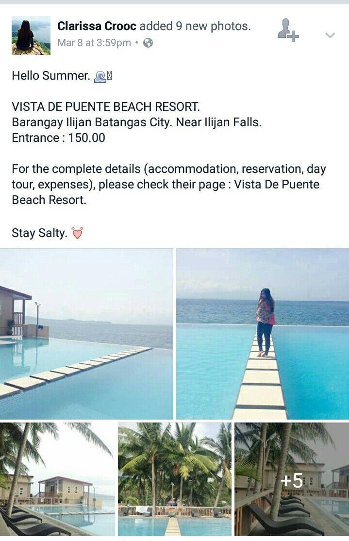 Vista De Puente Beach Resort Batangas Rates