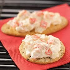 Kaden's Krabilicious Dip Mix - Mix package with 8 oz softened (microwave 1 min on high) cream cheese, 4 oz sour cream and 8 oz crab (can use imitation-diced). Chill and serve. Great with crackers, bread veggies and as a tater topper. Makes 2.5 Cups. $3.75 ea (see website for specials)