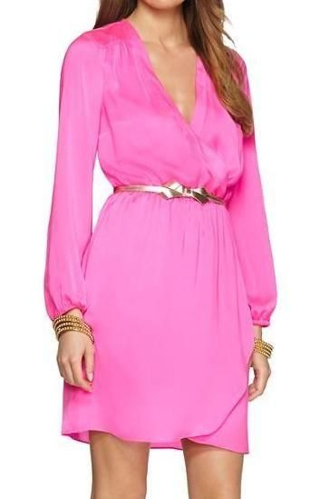 Lilly Pulitzer Whitaker Wrap Dress in Pop Pink
