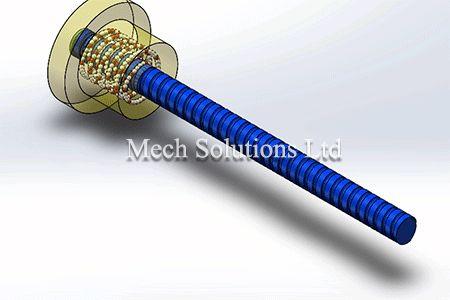 Ball-screw-solidworks-motion-cad-service in Toronto, GTA, Canada