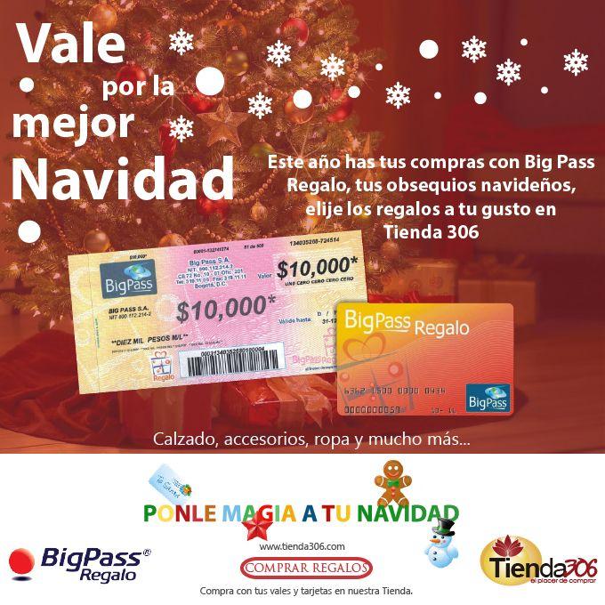 : : : Vale por la mejor Navidad : : : Haz tus compras con Bonos Big Pass y Sodexo Empieza a regalar en www.tienda306.com