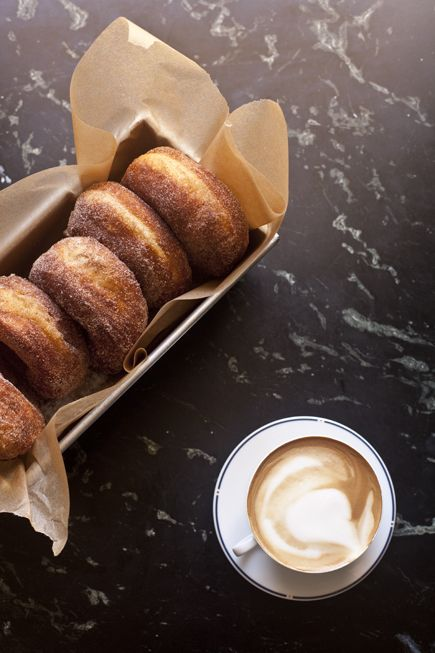 doughnuts + latte. yes, please.