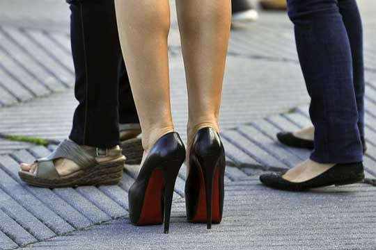 Injuries from high heels doubled