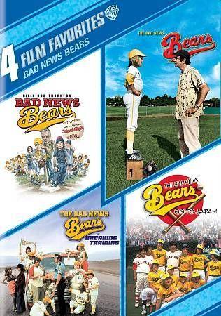 DVD Bad News Bears 4-Film Favorites  4-Disc Set New Sealed
