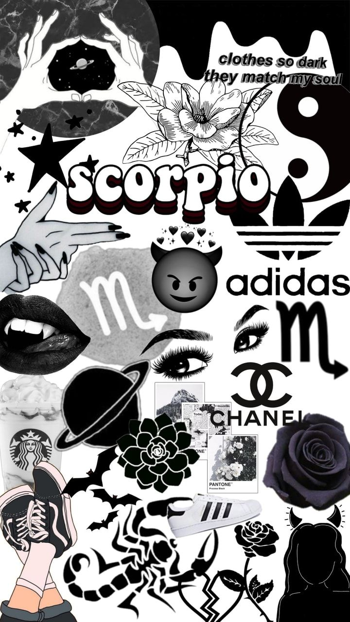 Image Discovered By Audrey Find Images And Videos About Black And White Aesthetic And Wallpap Zodiac Scorpio Art Astrology Scorpio Art Iphone Wallpaper Girly Aesthetic zodiac signs wallpaper iphone