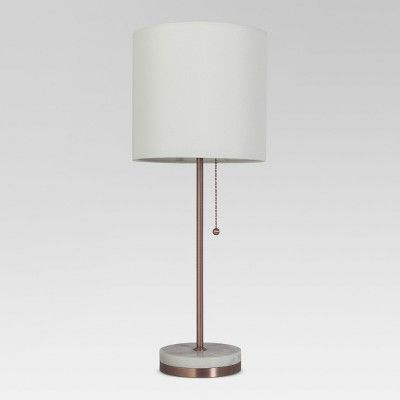 Target $22 Hayes Marble Base Stick Lamp - Project 62™ Bedside Lamp 21.5 inches (H) x 8.5 inches (W) x 8.5 inches (D) Pewter
