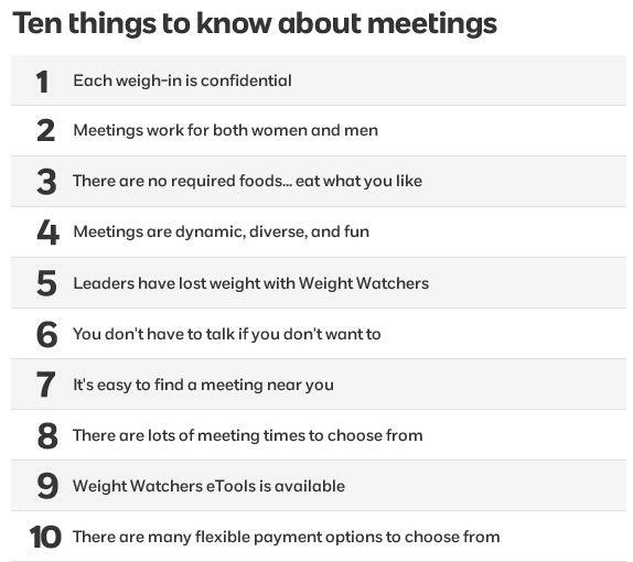 Weight Watchers Meetings ❤️