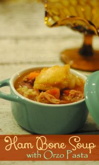 Ham Bone Soup Recipe with Orzo Pasta - Serendipity and Spice