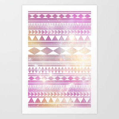 Galaxy+Tribal+Art+Print+by+Haleyivers+-+$18.00