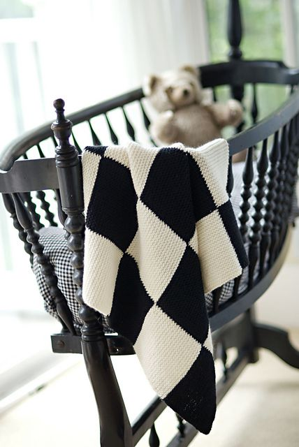 Garter Blocks Baby Blanket by Churchmouse Yarns and Teas