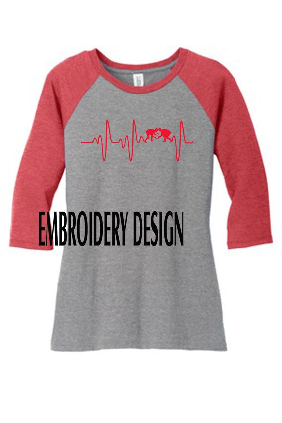 Wrestling Mom T-shirt Heart Monitor by M5XDesigns4u on Etsy                                                                                                                                                                                 More