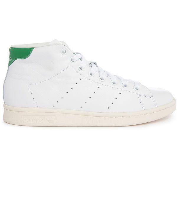 40% Descuento ADIDAS ORIGINALS, Stan Smith Mid White Leather Sneakers