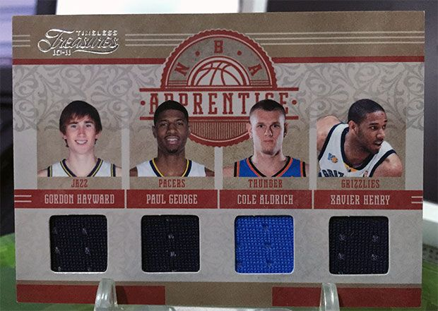 Gordon Hayward Cards w/ Paul George, Cole Aldrich and Xavier Henry – 2010-11 Panini Timeless Treasures Basketball