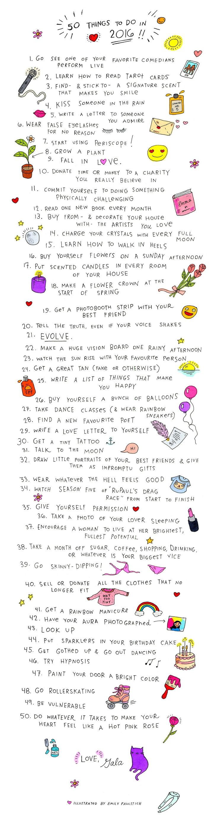50 Things To Do In 2016
