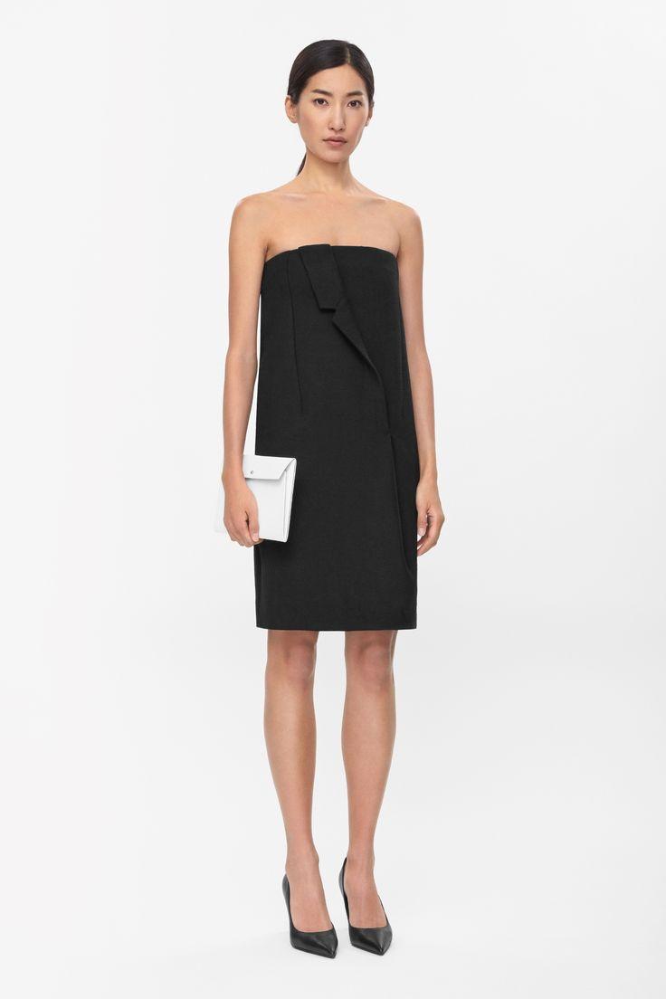 Draped lapel dress