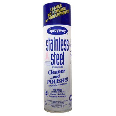 Sprayway Stainless Steel Cleaner/Polish, 15-oz.: Model# SW841R | True Value $5
