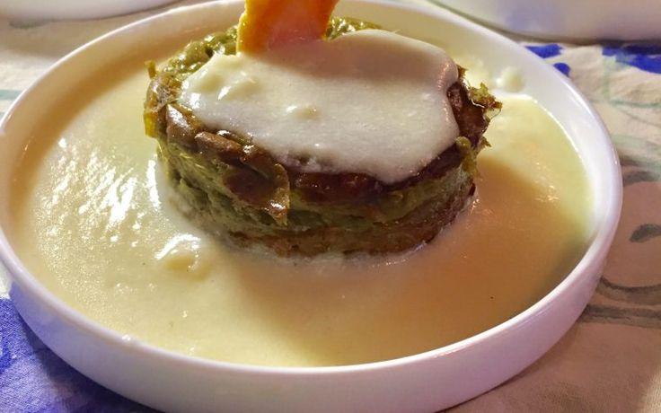 Tortini di carciofi con crema di parmigiano reggiano
