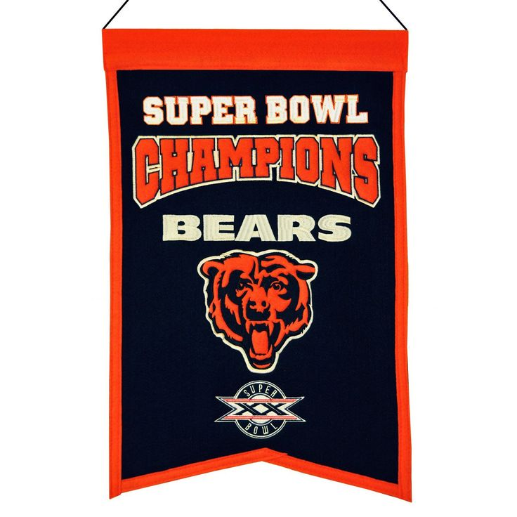 Chicago Bears Super Bowl Champions Banner