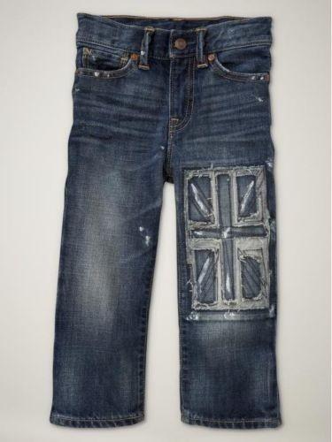 Baby Gap Boys Union Jack Portobello Road British Flag Jeans 2T | eBay