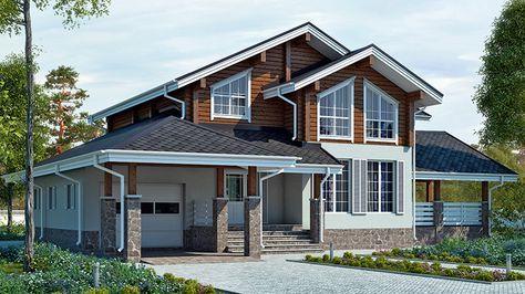 Проект Diana 276, общая площадь — 275,2 м2, автор проекта: компания Koivisto, проекты домов в журнале «Деревянные дома»