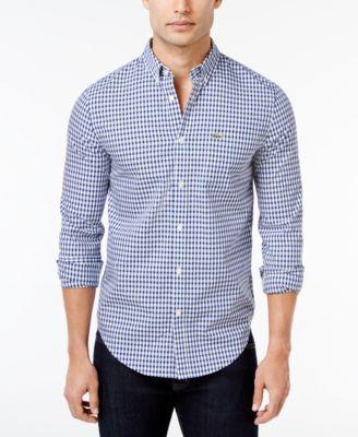 Lacoste Men's Gingham Cotton Shirt