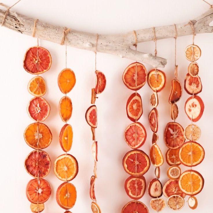 Ausgezeichnet Getrocknete Zitrusgirlande DIY